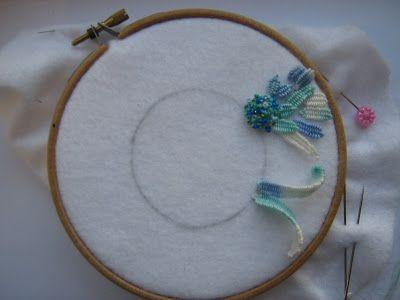 I ❤ ribbon embroidery . . . Tast 2012, needlewoven picot stitch !