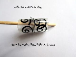 Caterina e dintorni: Come fare un Braccialetto di POLYSHRINK / Easy-to-make *Polyshrink bracelets TUTORIAL