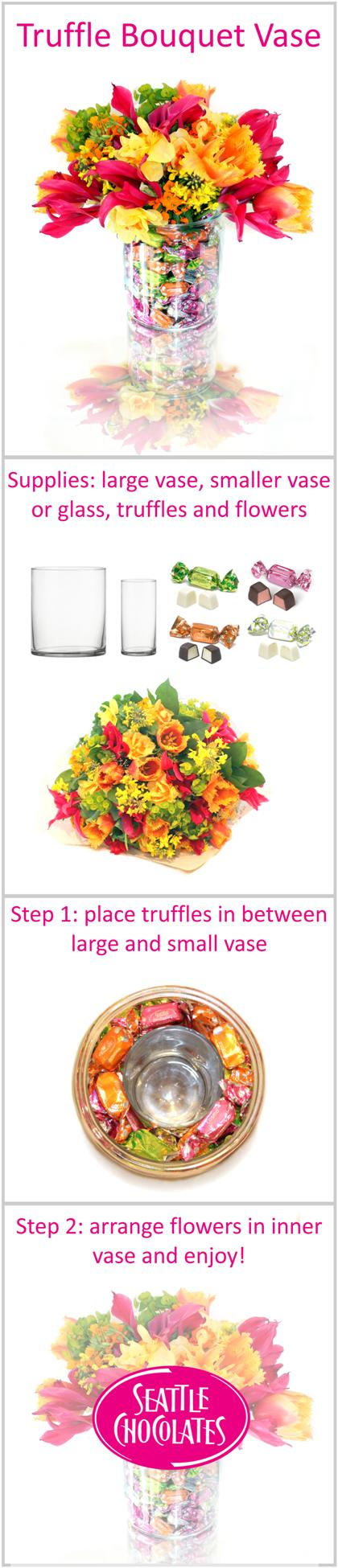 Seattle Chocolates truffles bouquet vase tutorial | Spring Palette ...