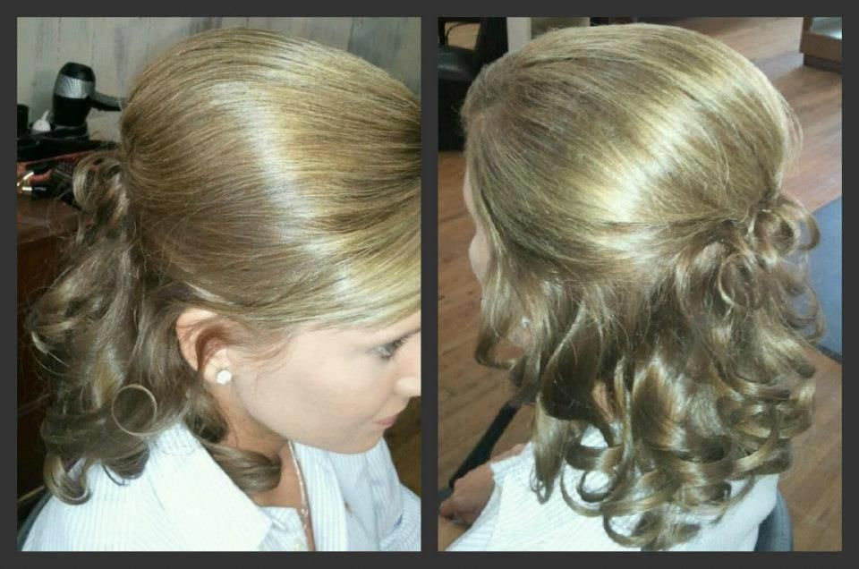 Half Up Half Down Hair Wedding Pageant Longhairstyleshalfup Junior Bridesmaid Hair Pageant Hair Prom Hairstyles For Short Hair