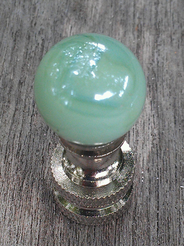 Table lamp harp sizes - Lamp Finial Glass Pearl Green Glass Marbleized Nickel Brass Finial Custom Lampshades Small Size Finial Marble Finial Handmade Custom
