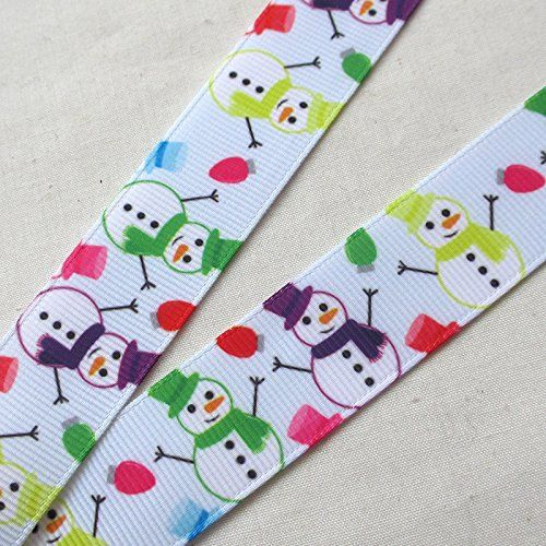 Christmas ribbon 22mm Santa Snowman Hair