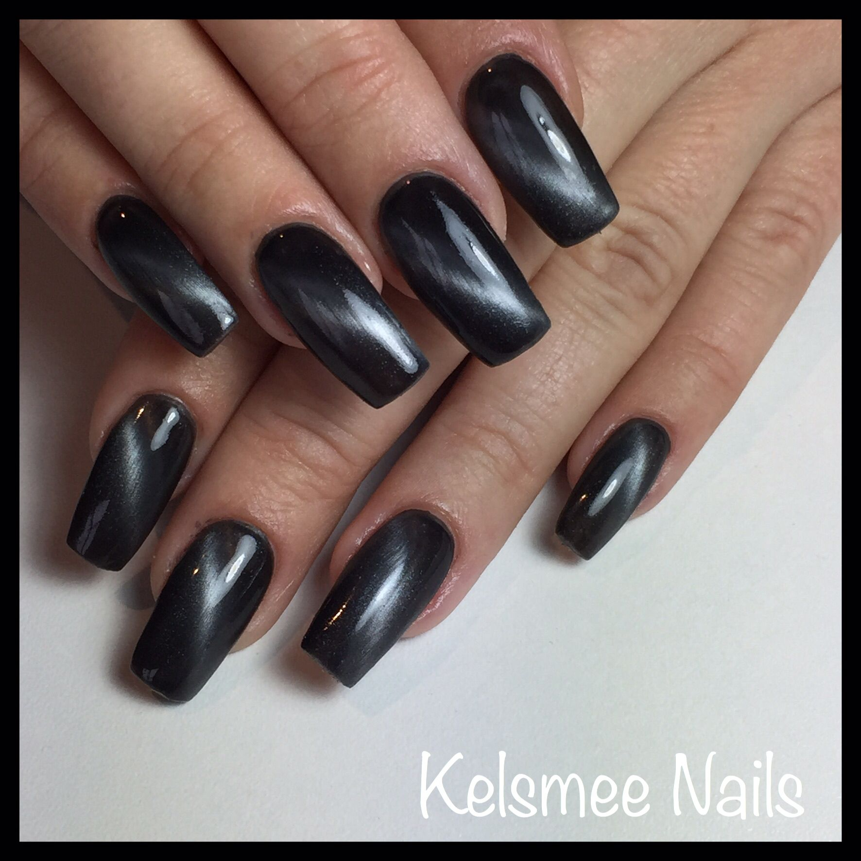 Black cateye   Nail Art Community Pins   Pinterest   Nageldesign ...