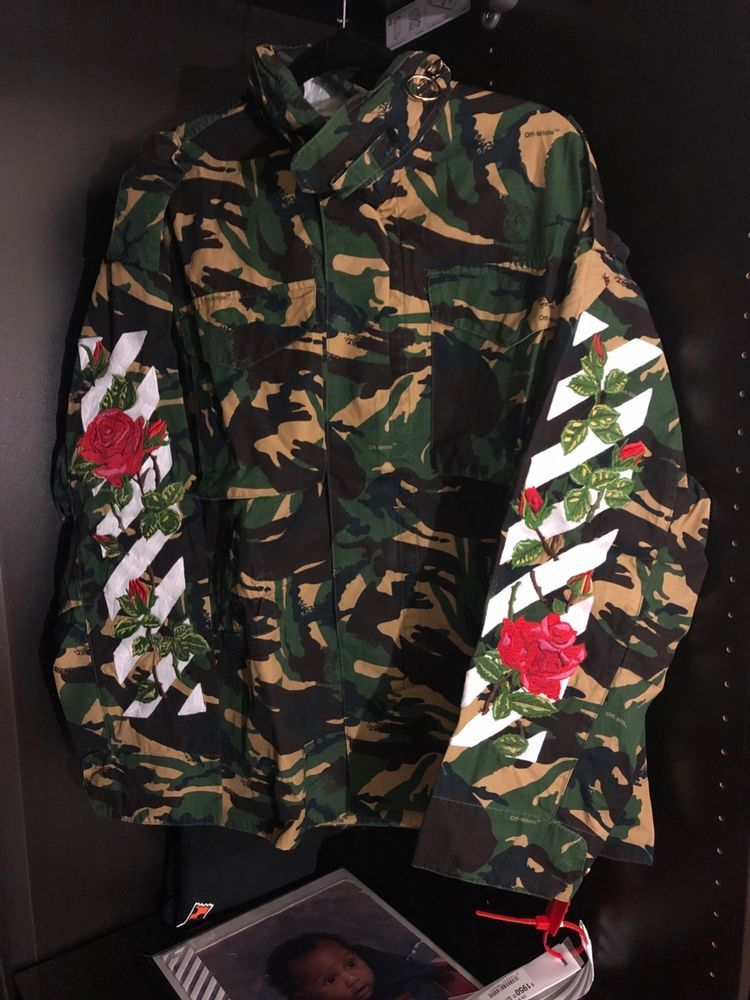 614c84bc19270 Off White Diagonal Rose Camo M65 Jacket Size Medium #fashion #clothing # shoes #accessories #mensclothing #coatsjackets (ebay link)