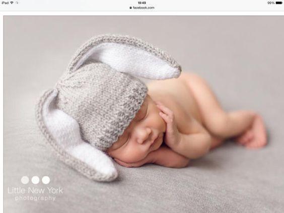 Newborn photo prop bunny newborn baby hat photography props newborn boy newborn girl newborn hat knits hat newborn props baby hat