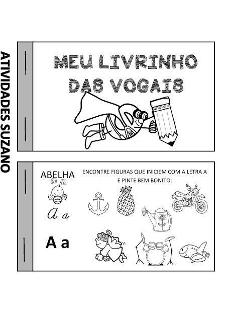 Livrinho Das Vogais Atividades Pedagogica Suzano Atividades