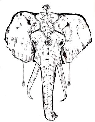 Circus Elephant Design Elephant Tattoos Elephant Head Drawing