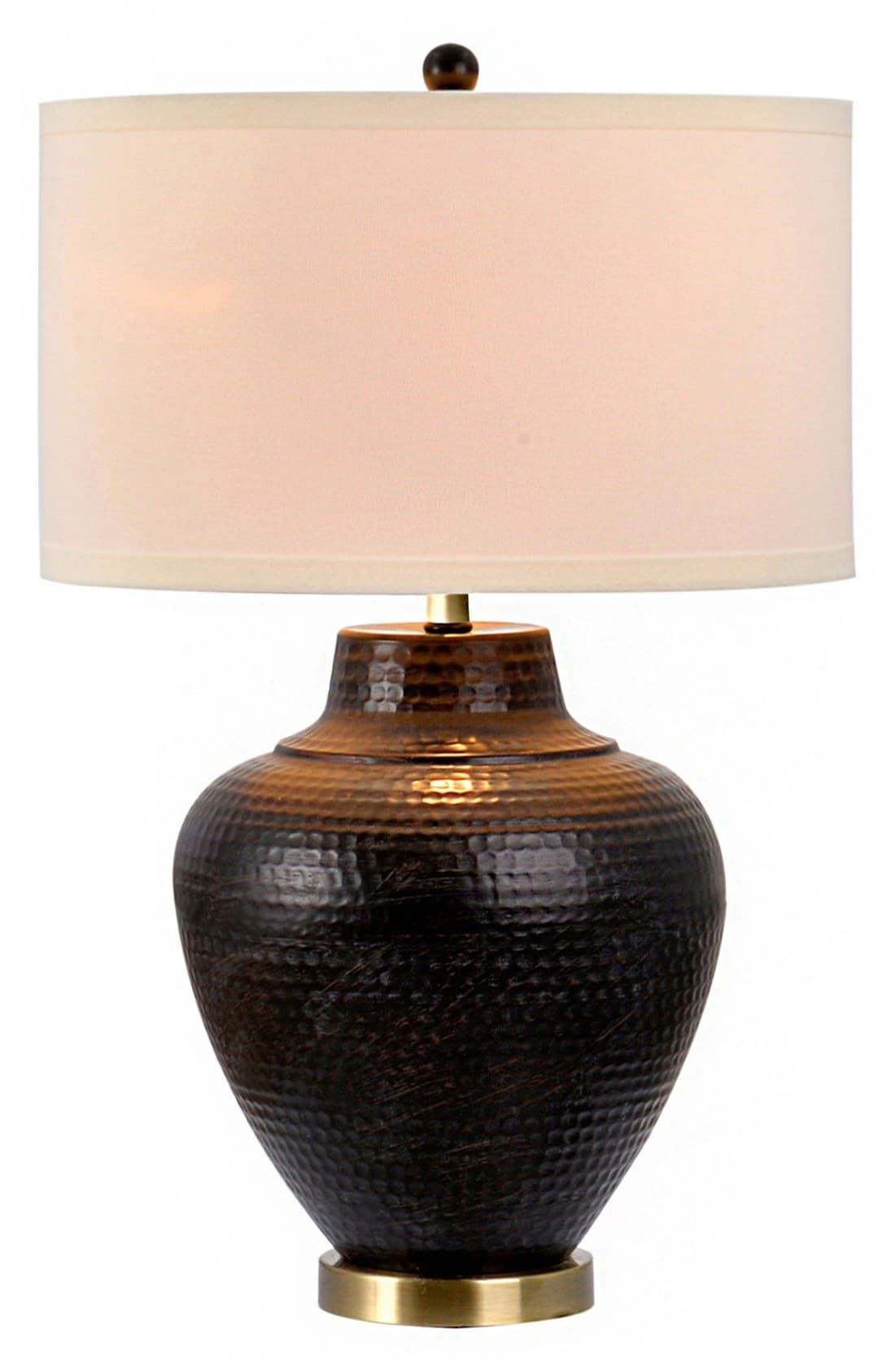 Jalexander Hammered Metal Table Lamp Size One Size Brown In 2020 Table Lamp Metal Table Lamps Lamp