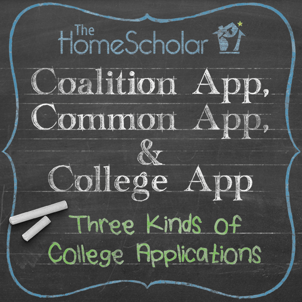 Coalition App, Common App, and College App College