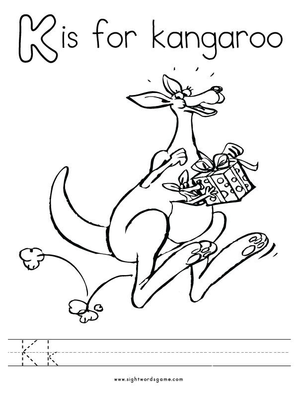 Letter K Coloring Page 3