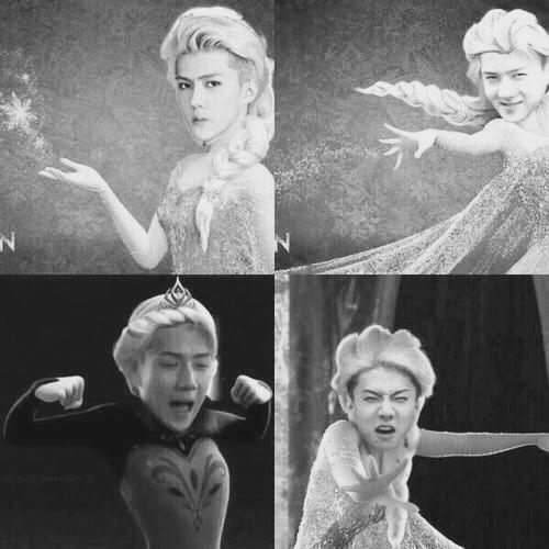 #EXO []Эльза + Сэхун = Сэхунельза[] Кхм.. Знакомьтесь это ...