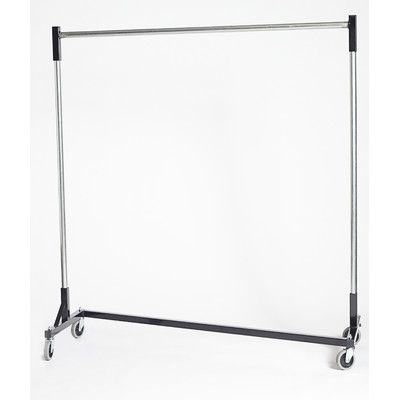 "Quality Fabricators Heavy Duty H-Rack Single Quickrail 63""W Garment Rack Size: 79"" H"
