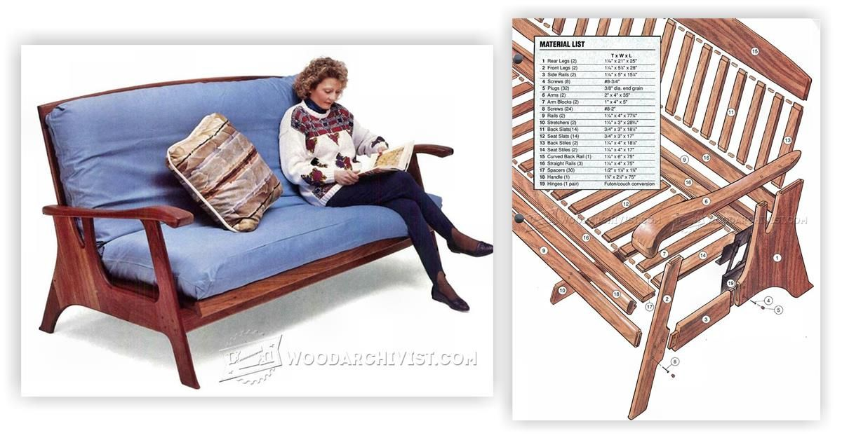 Futon Sofa Bed Plans Furniture And Projects Woodarchivist Com