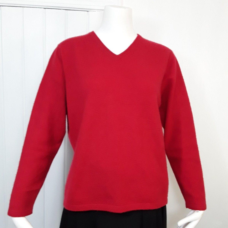 CROFT AND BARROW RED Cashmere Sweater Womens Sz XL  Nessaus Nitch