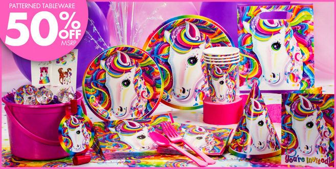 Lisa Frank Rainbow Horse Party Supplies