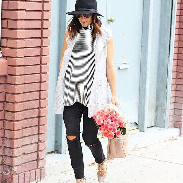 ee5b9e05aea63 24 Gorgeous Looks That Prove You Can Be Pregnant and Stylish: POPSUGAR  waysify