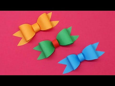 Photo of Bow | How to fold a paper Bow | Easy Origami Christmas Bow Making Tutorial | DIY Paper Crafts