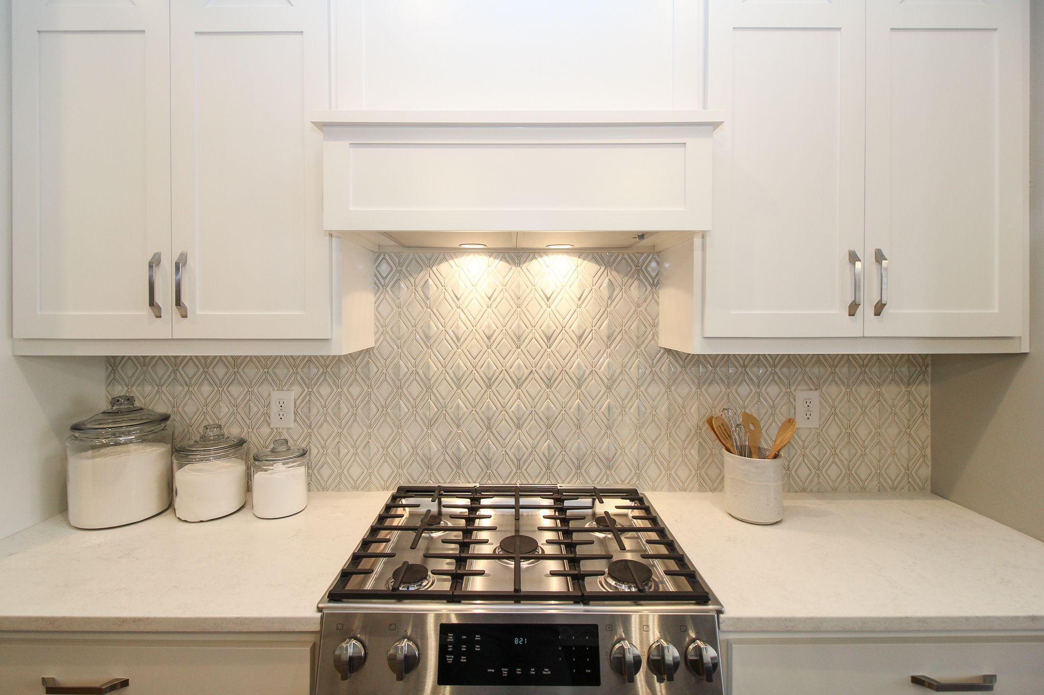 Elegant Kitchen Backsplash in 2020 White tile kitchen
