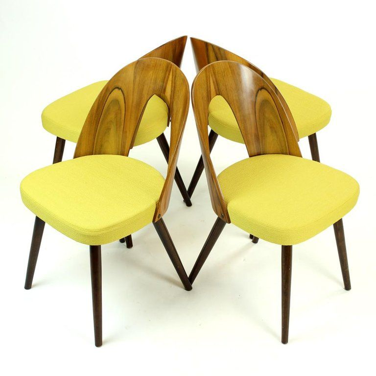 Mid Century Modern Tatra Chairs By Antonin Suman In Walnut