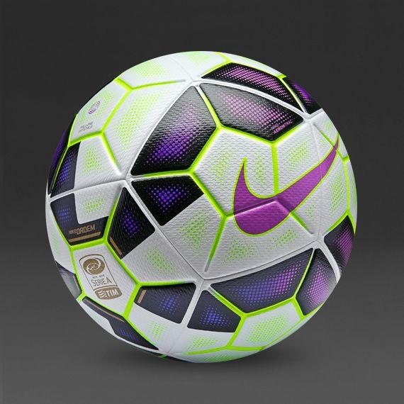 Nike Ordem 2 Serie A Ball White Black Pink Flash Nike Peter Spencer Voetballen