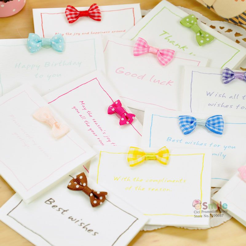 238 Bow Greeting Card Variety Pack 10 Pcs Per Delivery 2 4 Weeks