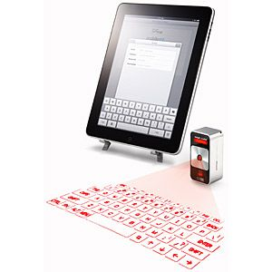 A virtual laser keyboard. Too bad the pricetag is a bit steep.