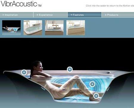 Kohler VibrAcoustic the Vibrating Music Playing Light Up Bathtub ...