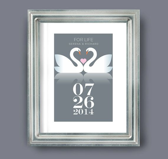 Wedding Gift Personalised wedding date print by visualphilosophy, $24.99