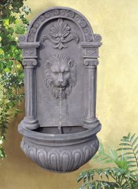 Sunnydaze Imperial Lion Solar Wall Fountain