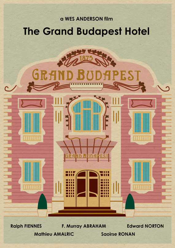 The Grand Budapest Hotel (2014) ~ Alternative Movie Poster by Joseph Chiang #filmposters