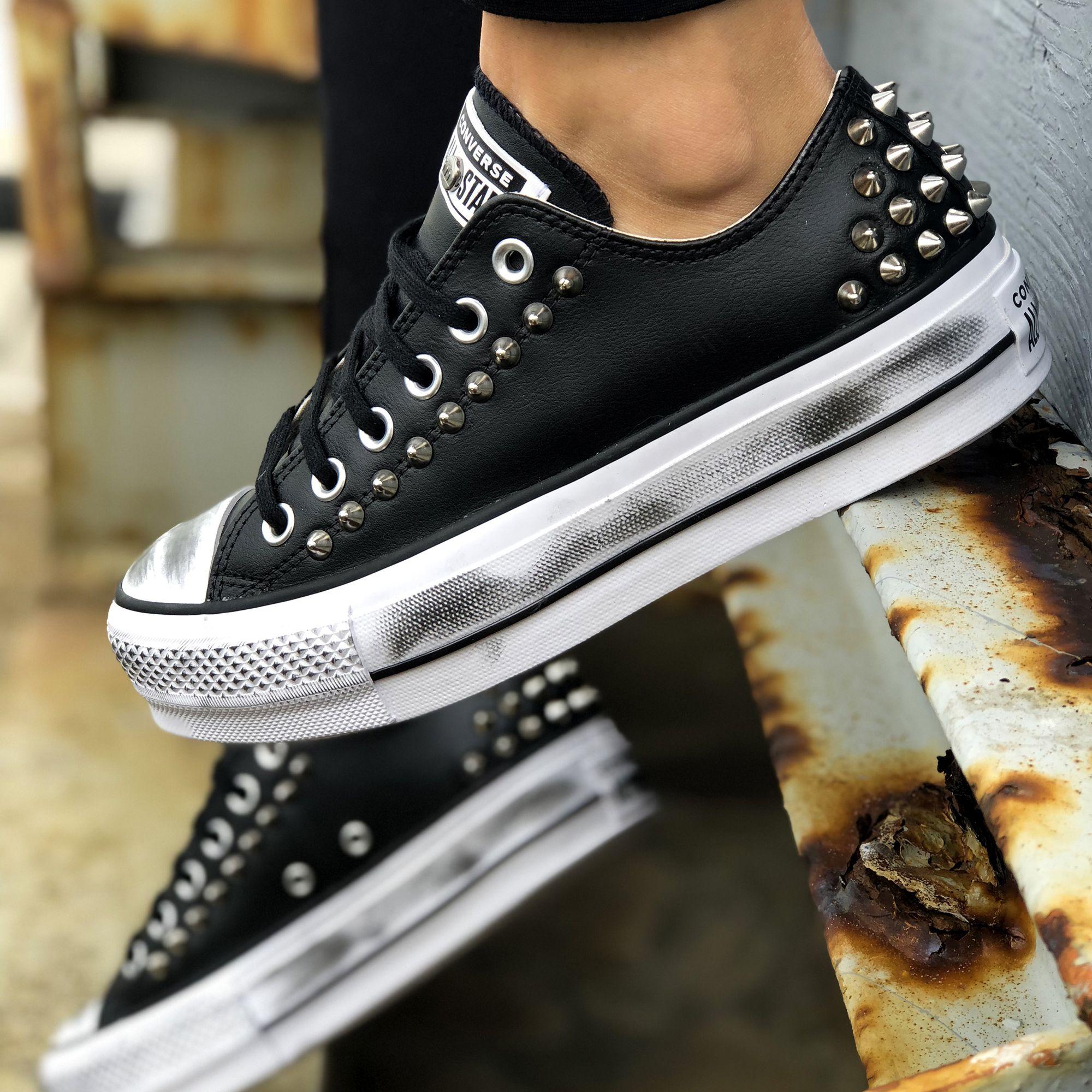 scarpe converse platform donna pelle