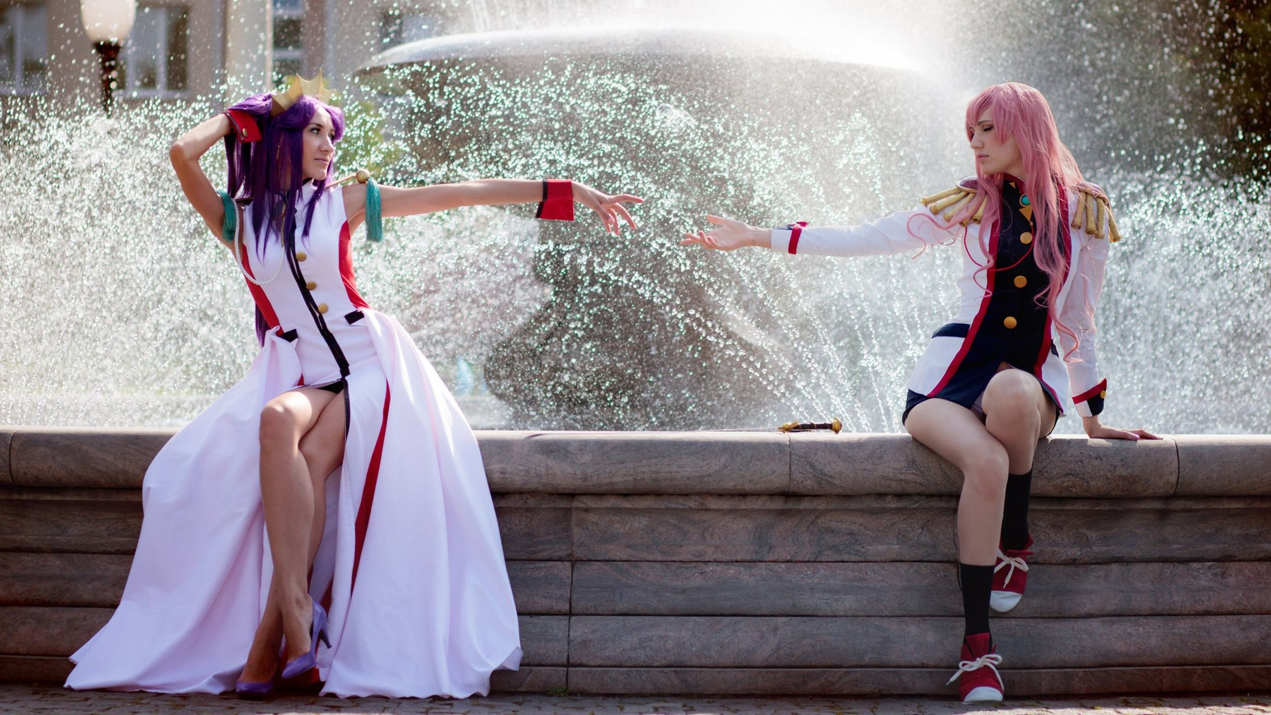 HD & Widescreen Wallpaper Of An Anthy And Utena Cosplay By