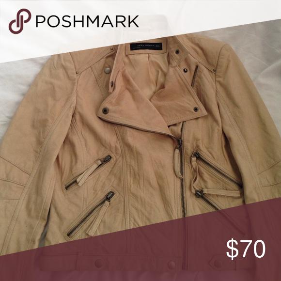 Zara Leather jacket Detailed original listing posted in closet. Zara Jackets & Coats