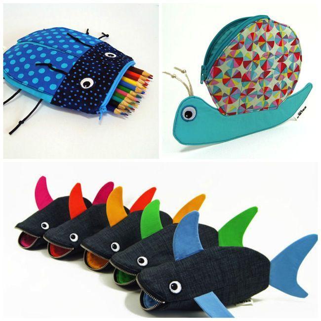 Vuelta al cole: estuche para lápices para niños con forma de tiburón ...