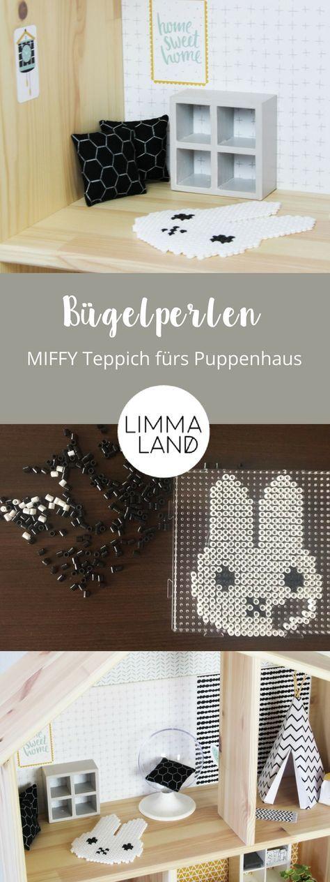 IKEA Bügelperlen und damit Miffy Teppich für Puppenhaus basteln #barbie