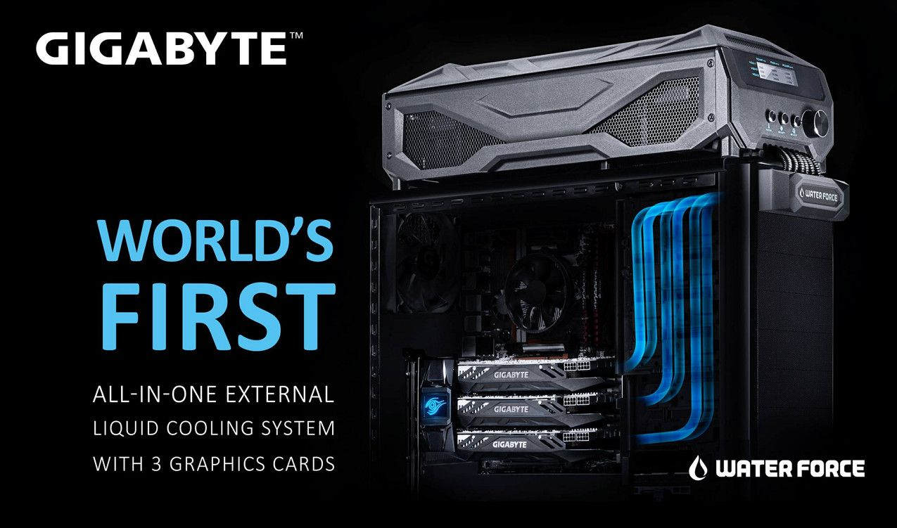 Gigabyte Waterforce All In One External Liquid Cooling System With