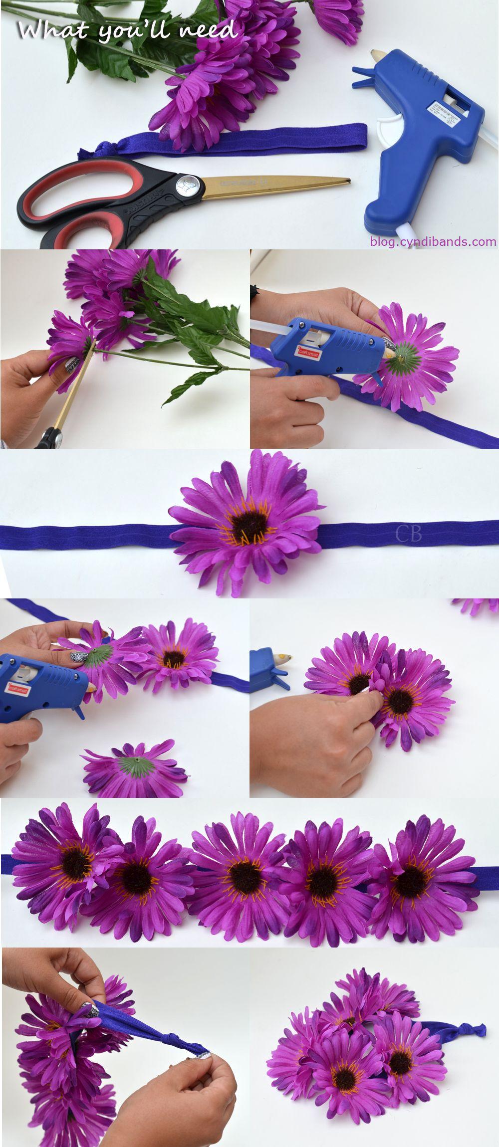 Diy Flower Headband For Music Festivals I D E A S Pinterest