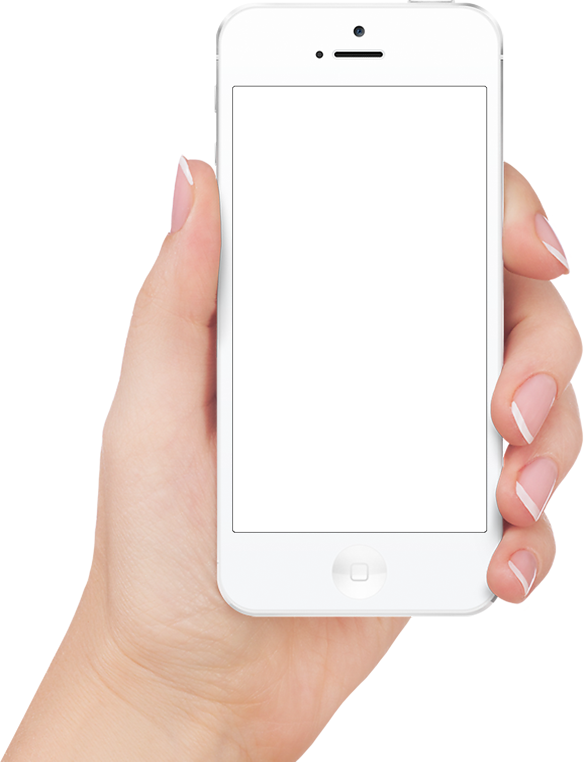 Apple iphone in hand transparent PNG image image with