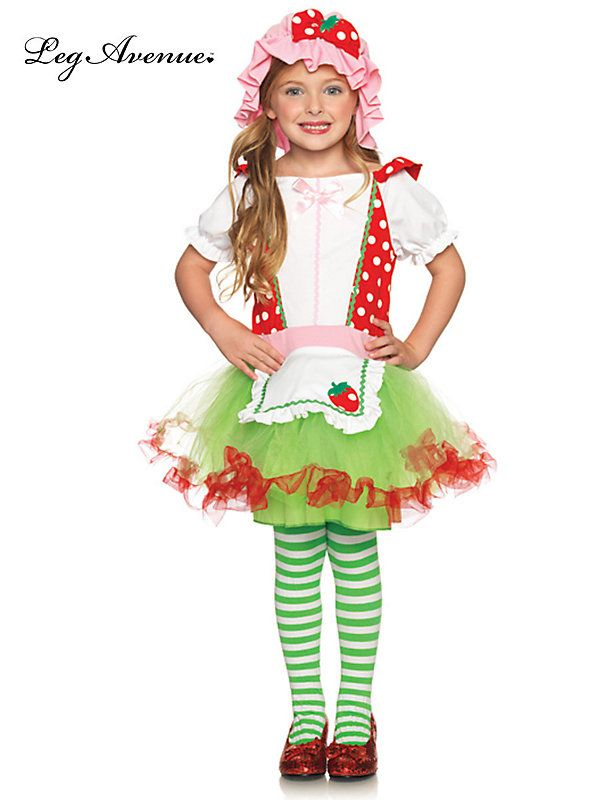 2 Piece Strawberry Sweetie Child Costume Halloween Costumes - halloween costumes for girls ideas