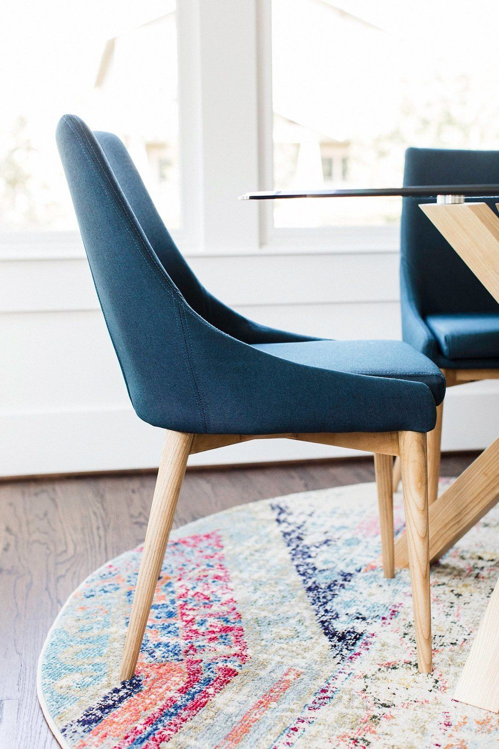 Edloe Finch Jessica Contemporary Dining Chair In Blue Set Of 2 Ef Zx Dc005b With Images Dining Room Chairs Modern Contemporary Dining Chairs Dining Chairs