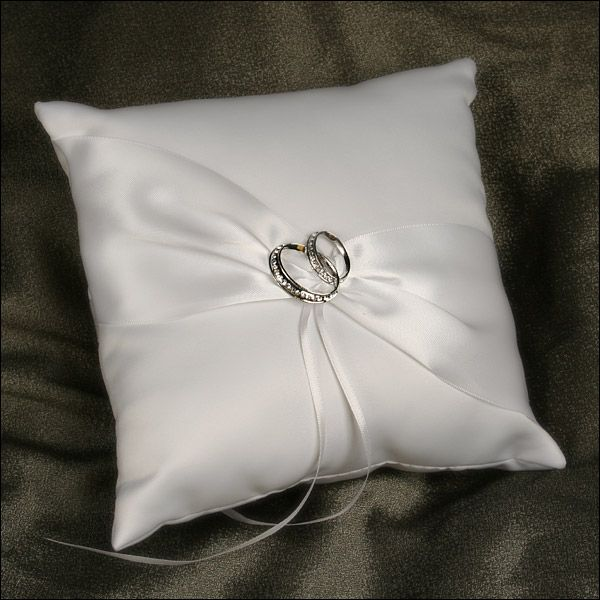 With This Ring White Bearer Pillow