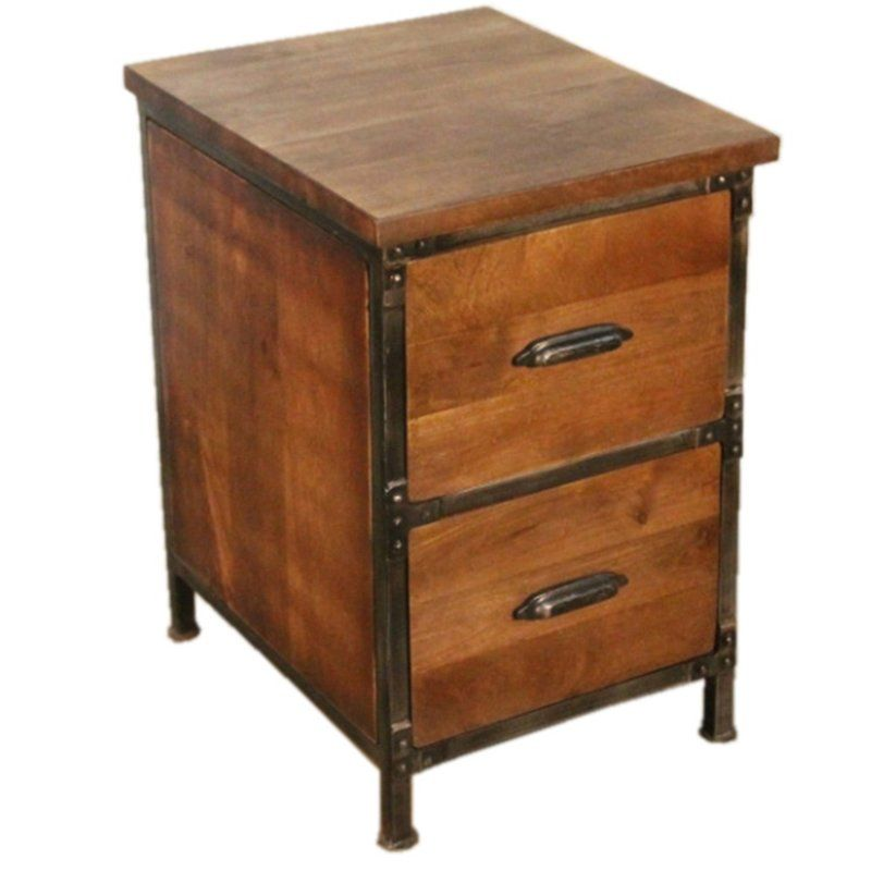 Yerby 2 Drawer Vertical Filing Cabinet Filing Cabinet Rustic