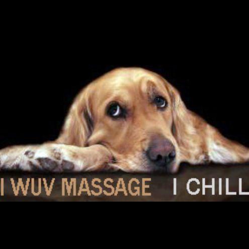 Pups luv massage, too!