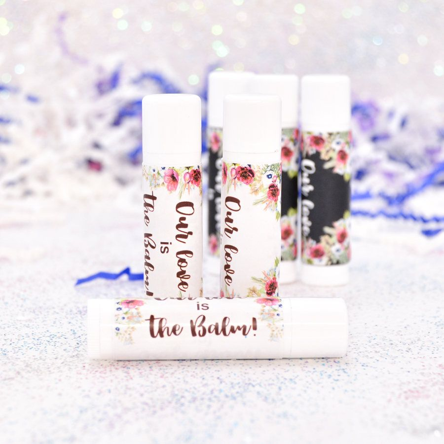 30 Burgundy Wedding Lip Balm Stickers, Floral Lip Balm Labels ...