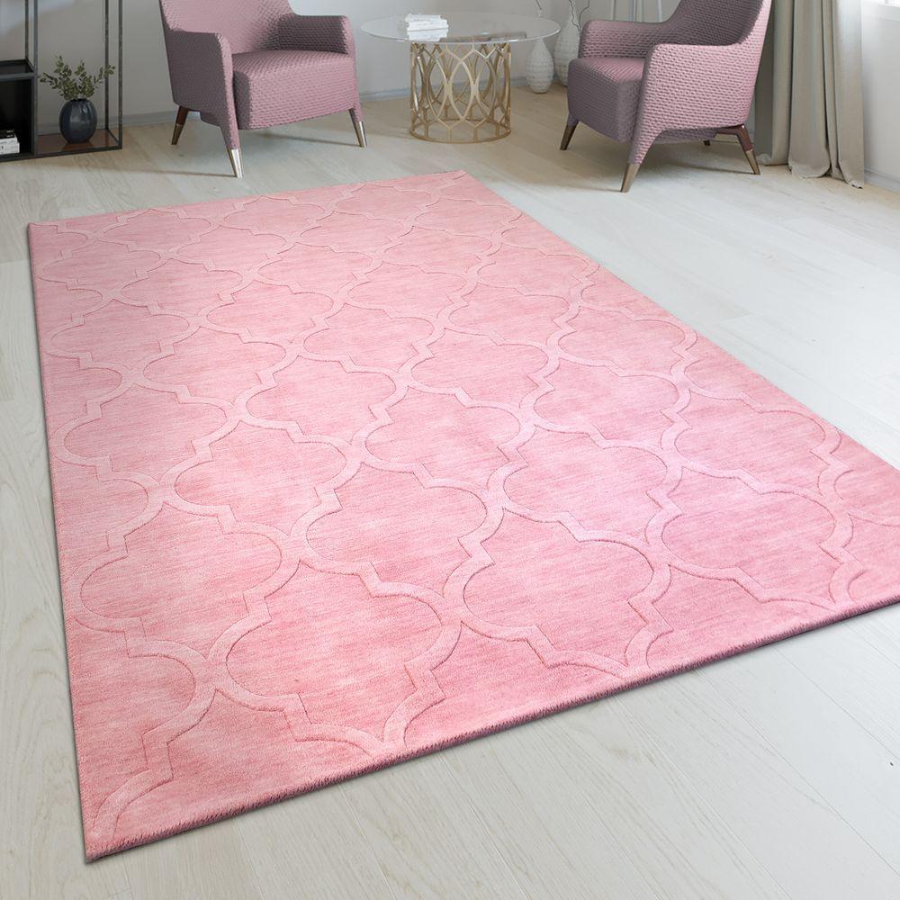 Handgefertigter Teppich Marokkanisches Design Pastell Rosa Marokkanisches Design Handgefertigte Teppiche Und Teppich Rosa