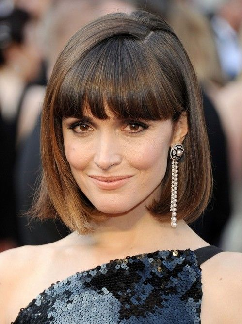 Spicy Edgy Hairstyles For Short Hair Blunt Bangs Side Part With