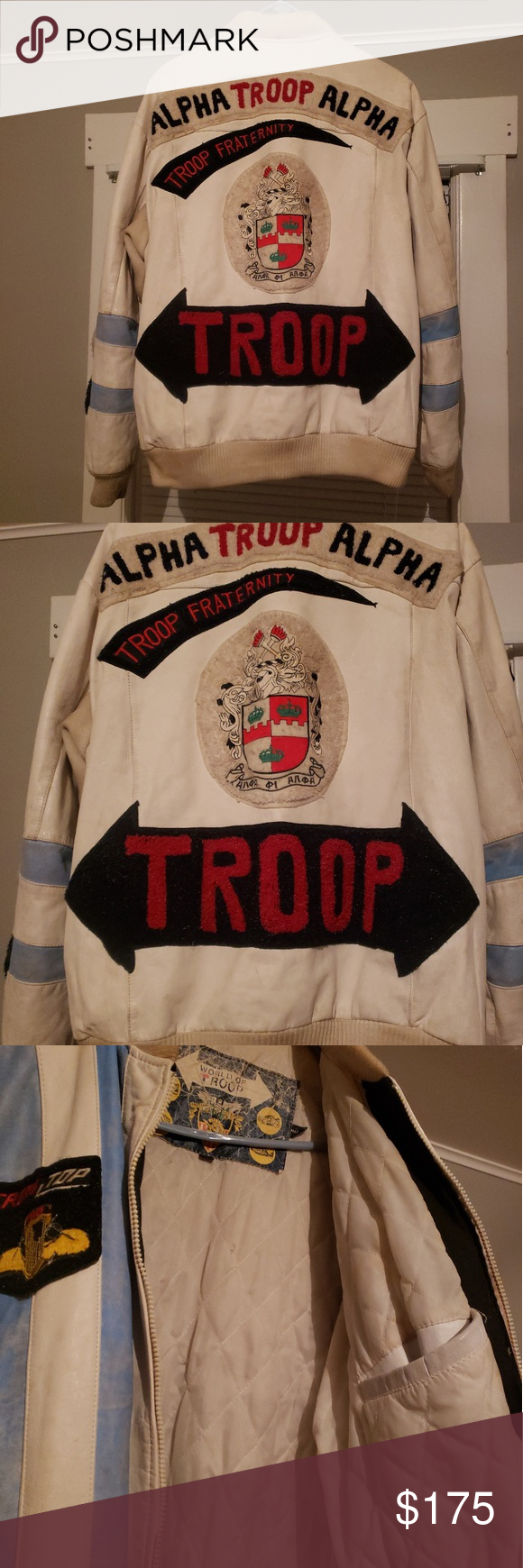 Vintage Alpha Troop Leather Jacket Jackets Leather Jacket Fashion [ 1740 x 580 Pixel ]