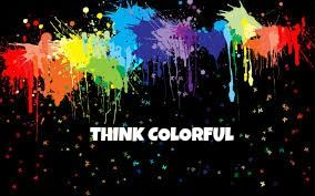 When you think colorful you make the world beautiful! ❤