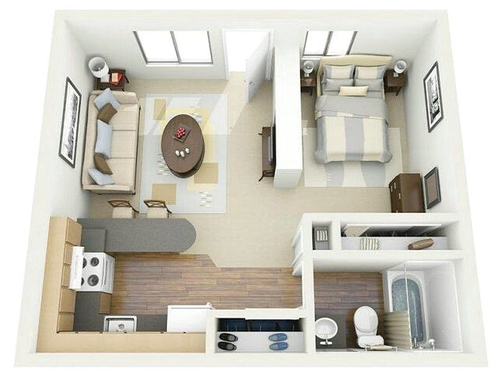 99 Lovely Basement Apartment Floor Plans Ideas 99bestdecor Studio Apartment Floor Plans Studio Floor Plans Apartment Floor Plans