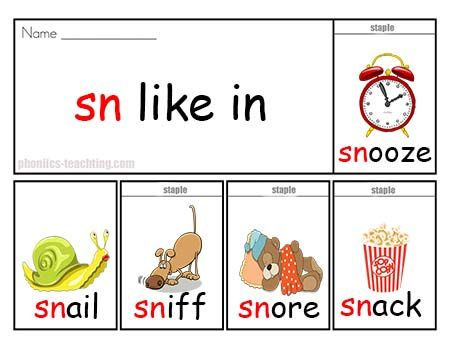Sn Words Free Printable Phonics Posters Phonics Games
